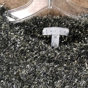 Leith Sweaters - EUC Leith Metallic Gold Fluffy Sweater